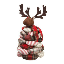 Silk Plants Direct - Silk Plants Direct Plaid and Stripe Bean Bag Reindeer (Pack of 1) - Silk Plants Direct specializes in manufacturing, design and supply of the most life-like, premium quality artificial plants, trees, flowers, arrangements, topiaries and containers for home, office and commercial use. Our Plaid and Stripe Bean Bag Reindeer includes the following: