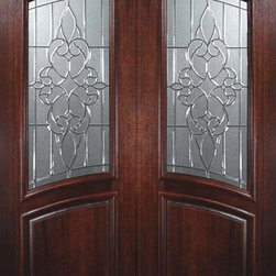"Slab Front Double Door 96 Wood Mahogany Courtlandt Arch Lite Glass - SKU#    P93075Brand    GlassCraftDoor Type    ExteriorManufacturer Collection    Arch Lite Entry DoorsDoor Model    CourtlandtDoor Material    WoodWoodgrain    MahoganyVeneer    Price    3500Door Size Options      +$percentCore Type    Door Style    Square TopDoor Lite Style    Arch LiteDoor Panel Style    Home Style Matching    Door Construction    PortobelloPrehanging Options    SlabPrehung Configuration    Double DoorDoor Thickness (Inches)    1.75Glass Thickness (Inches)    Glass Type    Triple GlazedGlass Caming    Black , Satin NickelGlass Features    Tempered , BeveledGlass Style    Glass Texture    Glass Obscurity    Door Features    Door Approvals    Wind-load Rated , FSC , TCEQ , AMD , NFRC-IG , IRC , NFRC-Safety GlassDoor Finishes    Door Accessories    Weight (lbs)    575.2Crating Size    25"" (w)x 108"" (l)x 52"" (h)Lead Time    Slab Doors: 7 daysPrehung:14 daysPrefinished, PreHung:21 daysWarranty    One (1) year limited warranty for all unfinished wood doorsOne (1) year limited warranty for all factory?finished wood doors"