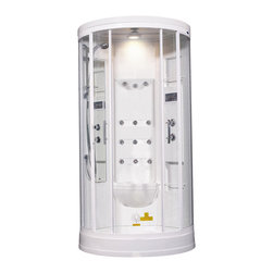 Aston Global - Ariel ZA218 Steam Shower - These fully loaded steam showers include massage jets, ceiling & handheld showerheads, and built in radios to help maximize the therapeutic experience