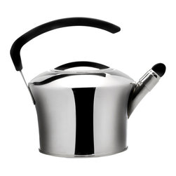 Berghoff - Berghoff Auriga Whistling Tea Kettle 2.5 liter - This Auriga Whistling tea kettle is made of durable 18/10 stainless steel with mirror finish.  Has a 3-layer capsule base with 0.8 wall thickness for body and cover.  Suitable for all heat sources including induction.
