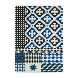 Gandia Blasco - Palermo Wool Kilim Rug - Blue - Gandia Blasco - All of the modern rugs by Gandia Blasco are Goodweave certified and the perfect addition to any room in your home. Yarn composition: 100% new Wool. Designed by Sandra Figuerola.