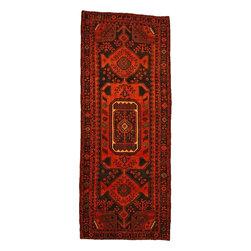 eSaleRugs - 4' 5 x 11' Sirjan Persian Runner Rug - SKU: 110898207 - Hand Knotted Sirjan rug. Made of 100% Wool. 30-35 Years.