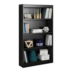 South Shore - South Shore Axess 2 Piece Office Set in Pure Black - South Shore - Office Sets - 72700707270767PKG -