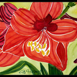 Caroline's Treasures - Flower - Amaryllis Indoor Or Outdoor Mat 24X36 Doormat - Indoor / Outdoor Mat 24x36 - 24 inches by 36 inches. Permanently dyed and fade resistant. Great for the front door or the back door.  Use this mat inside or outside.    Use a garden hose or power washer to chase the dirt off of the mat.  Do not scrub with a brush.  Use the Vacuum on floor setting.  Made in the USA.  Clean stain with a cleaner that does not produce suds.