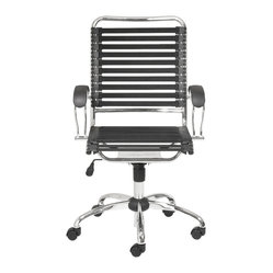 Bungee Flat J-Arm Office Chair