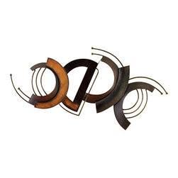 """BZBZ96634 - Metal Wall Decor 39""""W, 19""""H - Metal wall decor 39""""W, 19""""H. Wall decor with great decor sense. Support your existing wall decor with 96634 Metal WALL DECOR. It is an excellent anytime low priced wall decor upgrade option for everyone. Just have a look over this; you will fall in instant love with its beauty."""
