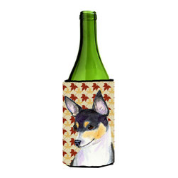 Caroline's Treasures - Chihuahua Fall Leaves Portrait Wine Bottle Koozie Hugger SS4338LITERK - Chihuahua Fall Leaves Portrait Wine Bottle Koozie Hugger SS4338LITERK Fits 750 ml. wine or other beverage bottles. Fits 24 oz. cans or pint bottles. Great collapsible koozie for large cans of beer, Energy Drinks or large Iced Tea beverages. Great to keep track of your beverage and add a bit of flair to a gathering. Wash the hugger in your washing machine. Design will not come off.