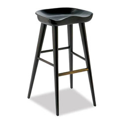 """Brownstone Furniture - Balboa Bar Stool - solid Indian Rosewood - midnight grey finish, available in Counter 17""""X 13.5""""D x 27.25"""" seat height 26"""" - Bar-17""""X 13.5""""D x 27.25"""" seat height 30"""""""