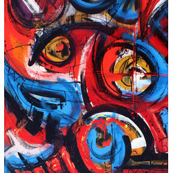 Passages (Original) by Craig Moser - lage 30x40 abstract inspired by the maze of passages