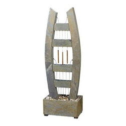 Kenroy Home Stonescape Natural Slate Outdoor Floor Fountain -