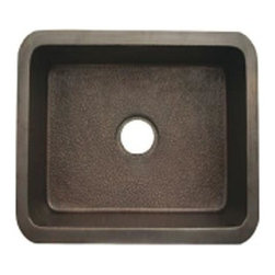 Whitehaus - Copperhaus Rectangular Undermount Kitchen Sin - Color: Smooth Bronze14 gauge sink. Hand made. 3.5 in. center drain. Copper is IAPMO tested and 97.5 % pure certification. Inner: 18 in. L x 16 in. W x 10 in. H. Overall: 21 in. L x 19 in. W x 10 in. H (26 lbs.). Warranty. Copper Care97.5% is pretty much the purest copper you can get without it being too soft for practical applications.
