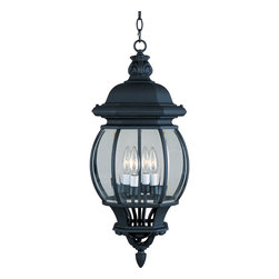Crown Hill-Outdoor Hanging Lantern - Crown Hill is a traditional, early American style collection from Maxim Lighting International, available in multiple finishes.