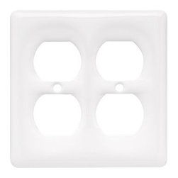 Liberty Hardware - Liberty Hardware 64517 Ceramic WP Collection 4.57 Inch Switch Plate - White - A simple change can make a huge impact on the look and feel of any room. Change out your old wall plates and give any room a brand new feel. Experience the look of a quality Liberty Hardware wall plate. Width - 4.57 Inch, Height - 4.6 Inch, Projection - 0.4 Inch, Finish - White, Weight - 0.37 Lbs.