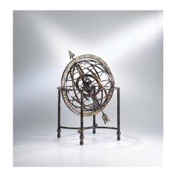 Cyan Design - Cyan Design 01364 Sculptural Iron Arrow Globe - Cyan Design 01364 Sculptural Iron Arrow Globe