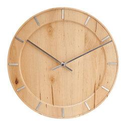 """Karlsson - Karlsson Wall Clock Pure Natural Wood, 11.5"""" - Wall clock Pure Natural wood."""