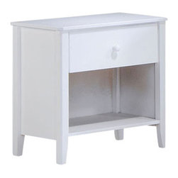 Night & Day Furniture - Night and Day Zest Nightstand - White - The Zest chest, dresser and Nightstand; Some of the best storage value around; you can get our zesty drawer sets in white, cherry and chocolate... with a hint of orange peel to open your senses and brighten your day.