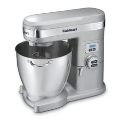 Cuisinart - Cuisinart SM-70BC 7 Quart Stand Mixer - Brushed Chrome Multicolor - SM-70BC - Shop for Stand from Hayneedle.com! The convenient multi-functional Cuisinart SM-70BC 7 Quart Stand Mixer has the power 12-speed precision and capacity to help you prepare all your meals to perfection from everyday basics to gourmet specialties. With three accessories you can mix whip or even knead dough. Optional attachments purchased separately connect to one of three power outlets on the mixer for blending processing and juicing.Additional features:Limited 3-year warrantyDimensions: 15.5L x 11W x 14.5H inchesAbout CuisinartOne of the most recognized names in cookware and kitchen products Cuisinart first became popular when introduced to the public by culinary experts Julia Child and James Beard. In 1973 the Cuisinart food processor revolutionized the way we create fine food and healthy dishes and since that time Cuisinart has continued its path of innovation. Under management by the Conair Corporation since 1989 Cuisinart is a universally celebrated name in kitchens across the globe. With a full-service product line including bakeware blenders coffeemakers cookware countertop appliances kitchen tools and much much more Cuisinart products are preferred by chefs and loved by consumers for durability ease of use superior quality and style.