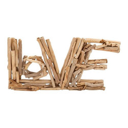 Love Driftwood Decor - Love never drifts away. Remember that with this sweet driftwood decor. Put it on your tabletop for an unexpected design choice.