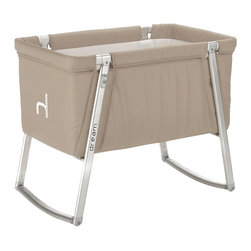 BabyHome - BabyHome Dream Portable Crib, Sand - Dream is an extremely lightweight cot with an aluminum frame that is easy to assemble/disassemble. Its innovative adjustable leg system allows, with the click of a button, to change the leg position from stationary to a rocker to wheels that allow Dream to be easily moved around the house. The fabric can be removed from the aluminum frame and washed. Dream comes with a high-density foam mattress that prevents the baby from getting caught between the edge of the mattress and side of the cot and a honeycomb structured mattress pad that is safe and breathable.