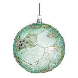 Silk Plants Direct - Silk Plants Direct Northern Lights Glass Ball Ornament (Pack of 2) - Pack of 2. Silk Plants Direct specializes in manufacturing, design and supply of the most life-like, premium quality artificial plants, trees, flowers, arrangements, topiaries and containers for home, office and commercial use. Our Northern Lights Glass Ball Ornament includes the following: