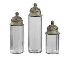 Uttermost - Textured Brown Acorn Canisters - Textured Brown Acorn Canisters