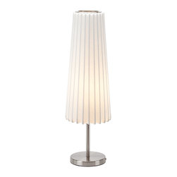 Nuevo Living - Abby White Acrylic Table Light by Nuevo - HGMO111 - The Abby table lamp by Nuevo features a molded acrylic that has afabric like texture.This modern floor lamp is sure to fit any decor.