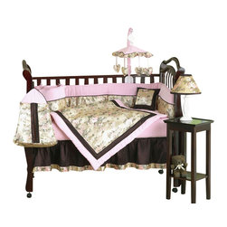 Sweet Jojo Designs - Abby Rose 9-Piece Crib Bed Set - Sweet dreams are made of these, and your baby will not disagree. This super-soft crib set features a rich floral design set against a satiny background. The rich colors and elegant design make even the sleepless nights a little easier.