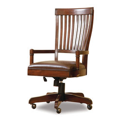 Hooker Furniture - Hooker Furniture Abbott Place Desk Chair 637-30-220 - Abbott Place takes a hip spin on traditional styling for a look that blends the best of classic American influences with fresh, updated design.