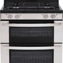 LG - LDG3031ST 6.1 cu. ft. Capacity Freestanding Gas Range With Double Oven  4 Sealed - The LDG3031ST by LG maximizes the amount of usable space on your cooktop There are a total of 4 burners on the cooktop which is covered by continuous grates The upper oven has a capacity of 22 cu ft while the lower oven has a capacity of 39 cu ft giv...
