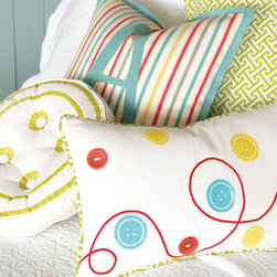 Eastern Accents - Arcadia Decorative Pillows - Transform your daughter's bedroom into a blooming garden with Arcadia. The explosion of fun and trendy colors will guarantee her much brighter mornings.