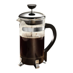 Epoca - Primula Chrome 8-cup Classic Coffee Press - Nothing beats a coffee press when it comes to delivering a rich, elegant, satisfying cup of coffee. This French press is made with high-quality durable glass and stainless steel parts framed with chrome accents.