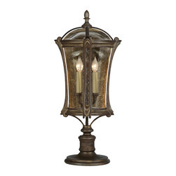 Fine Art Lamps - Gramercy Park Outdoor Adjustable Pier - Inspired by one of New York City's most exclusive townhouse districts, this exterior light will add stately charm to your home's facade. From its textured, amber-tinted glass to its antique gold finish, it sends a warm and gracious welcome — and for your convenience can be pier or post mounted.