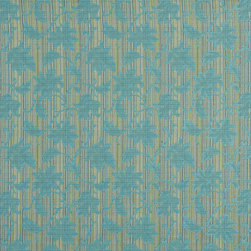Turquoise And Green Floral Stripe Upholstery Jacquard Fabric By The Yard - This multipurpose fabric is great for residential upholstery, slipcovers and pillows. This material is woven for enhanced elegance, and will exceed 35,000 double rubs (15,000 is considered heavy duty)