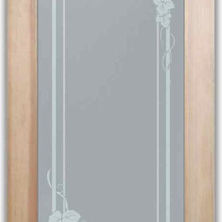 "Pantry Doors - Wine Room Doors Cascade - PANTRY DOORS TO SUIT YOUR STYLE!  Glass Pantry Doors you customize, from wood type to glass design!   Shipping is just $99 to most states, $159 to some East coast regions, custom packed and fully insured with a 1-4 day transit time.  Available any size, as pantry door glass insert only or pre-installed in a door frame, with 8 wood types available.  ETA for pantry doors will vary from 3-8 weeks depending on glass & door type.........Block the view, but brighten the look with a beautiful obscure, decorative glass pantry door by Sans Soucie!   Select from dozens of frosted glass designs, borders and letter styles!   Sans Soucie creates their pantry door obscure glass designs thru sandblasting the glass in different ways which create not only different effects, but different levels in price.  Choose from the highest quality and largest selection of frosted glass pantry doors available anywhere!   The ""same design, done different"" - with no limit to design, there's something for every decor, regardless of style.  Inside our fun, easy to use online Glass and Door Designer at sanssoucie.com, you'll get instant pricing on everything as YOU customize your door and the glass, just the way YOU want it, to compliment and coordinate with your decor.  When you're all finished designing, you can place your order right there online!  Glass and doors ship worldwide, custom packed in-house, fully insured via UPS Freight.   Glass is sandblast frosted or etched and pantry door designs are available in 3 effects:   Solid frost, 2D surface etched or 3D carved. Visit or site to learn more!"