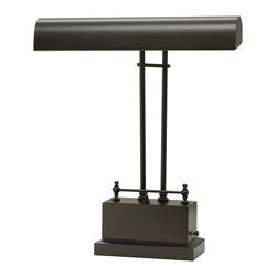 House Of Troy - House Of Troy Battery Operated LED Piano / Desk Lamp X-18-002DELPB - Battery operated convenience and exceptional style comes from the House of Troy Battery Operated LED Piano / Desk lamp. Finished in Mahogany Bronze, the body is masculine and strong. The frame consists of two sleek arms and a bold base.