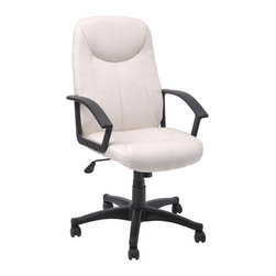 White Thick Padding Office Chairs - Product Description: