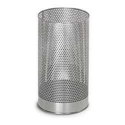 Blomus - Pako Wastebasket - 65115 - Shop for Caddies and Stands from Hayneedle.com! The mesh-style stainless steel encasing gives this simple room accessory a little added personality. This wastebasket is an easy addition to the modern bathroom and its unassuming simplicity keeps the attention focused where it counts: Outside not inside the wastebasket!Add this wastebasket for a shining modern accessory to any contemporary bathroom.About BlomusBased in Sundern Germany Blomus is an international designer of functional and decorative stainless steel products for the home interior and exterior. Their aim is to harmonize form and function to create special products for everyday life such as kitchen accessories wellness elements patio accents and decorative items. Their designs soften the cold and sterile edge of stainless steel by combining it with other materials. For Blomus design is not an end in itself but an important part of everyday life.
