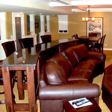Contemporary Basement Mancave