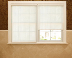 None - Premium Single-roller Cream Fabric Window Shade - Maintain privacy while blocking out unnecessary light with this single-roller window shade. Made with premium polyester,this contemporary beige shade comes with all necessary hardware to make installation easy.
