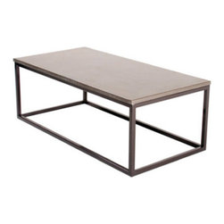 """Hart Concrete Design - Box Coffee Table in Mesa - The Box Coffee Table is handmade to order by Hart Concrete Design in the United States. Each tables base is made of a 1"""" X 1"""" Square Steel Tubing powder coated in Bronze, with a 1"""" polished concrete top."""