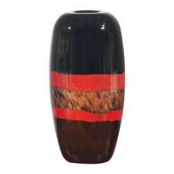 Dale Tiffany - New Dale Tiffany Vase Black Glass Hand-Blown - Product Details