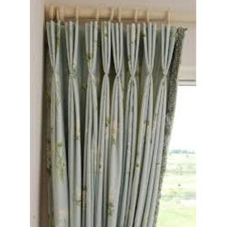 3 Finger Pinch Pleat Curtains & Draperies of Indianapolis- Custom Styles at Affo - This is a picture of our three finger pinch pleated curtains with trim. We can create any style and pleat that you want.