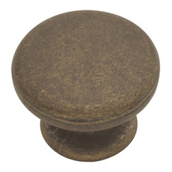 Hickory Hardware - Hickory Hardware 1-1/4 In. Oxford Antique Windover Antique Cabinet Knob - Refreshing in its simplicity, Rustic style highlights natural beauty and a rugged, resilient spirit.  Thanks to the unpretentious roots, organic textures, shapes and natural warmth, it�s become as popular in the heart of the city as it is out in the woods.