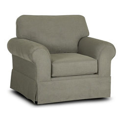 Klaussner Furniture - Woodwin Chair and Ottoman Set - BO48930-CO - Set includes Chair and Ottoman