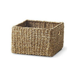 WOVEN SQUARE BASKET - LARGE - Do you occasionally lose things? Buy duplicates of items already on hand? Have no idea where to put a hodgepodge assortment of things you don't even remember buying? Fortunately, we have a solution: Our Woven Baskets (which conveniently scale from small to large) are the perfect storage solution. Stylish, textured, and equipped with handles, these baskets fit easily into your life and your home wherever they're needed, from holding children's or pets' toys on the floor to resting on a shelf in a row. Even better, it's designed to fit in our Natural Entertainment Unit–Just another way to simplify your life!