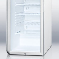 """Summit - SCR450LBISH 20"""" 4.1 cu. ft. Refrigerator With Factory Installed Lock  Glass Door - SUMMIT SCR450LBI Series features auto defrost glass door refrigerators designed for built-in use in any 20 wide space"""