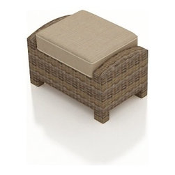 Forever Patio - Cypress Modern Wicker Outdoor Ottoman, Spectrum Mushroom Cushion - The Forever Patio Cypress Outdoor Rattan Rectangular Ottoman with Beige Sunbrella cushions (SKU FP-CYP-RCOT-HR-SM) is the perfect addition to your Cypress patio set, either as a footrest or as an additional seat. The heather-colored resin wicker is UV-protected, and features subtly muddled tones for a varied, natural look. Each strand of this outdoor wicker is made from High-Density Polyethylene (HDPE) and is infused with its rich color and UV-inhibitors that prevent cracking, chipping and fading ordinarily aused by sunlight. This patio wicker ottoman is supported by thick-gauged, powder-coated aluminum frames that make it more durable than natural rattan. This ottoman includes a fade- and mildew-resistant Sunbrella cushion for added comfort in your outdoor space.