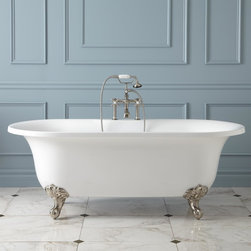"""68"""" Aislin Acrylic Clawfoot Tub - Imperial Feet - Designed with a traditional home in mind, the freestanding Aislin tub features a touch of contemporary appeal, making it adaptable to nearly any style bathroom."""