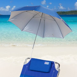Rio Brands - Rio 4 ft. Blue Clamp-On Beach Umbrella - UB44-46 - Shop for Patio Umbrellas from Hayneedle.com! Bring shade with you wherever you go with the Blue Clamp-On Beach Umbrella. This 4-foot octagonal canopy is made of 75-denier polyester fabric. This fabric has a sun-protection factor of 50. For this reason this umbrella is recognized by the Skin Cancer Foundation as an effective UV protectant. The clamp at the end of the zinc-plated pole will attach to nearly any horizontal or vertical surface. It's ideal for use with your favorite beach chair. This umbrella is so compact that you can easily store it in your trunk keeping it always handy.About RIO BrandsWith its impressive 60-year history RIO Brands is the most enduring company in the outdoor furniture marketplace today. RIO Brands has earned a superb reputation for providing constant innovation fashion leadership dependable quality and outstanding customer service.
