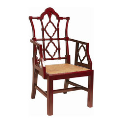 EuroLux Home - New Italian Style Dining Arm Chair Red - Product Details